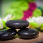 Wellness spa lávové kamene