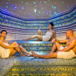 Wellness spa parná sauna